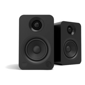 YU Powered Bookshelf Speaker with Bluetooth (Matte Black) - Pair