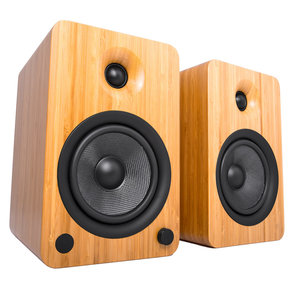 YU6 Powered Bookshelf Speakers with Built-In Bluetooth - Pair