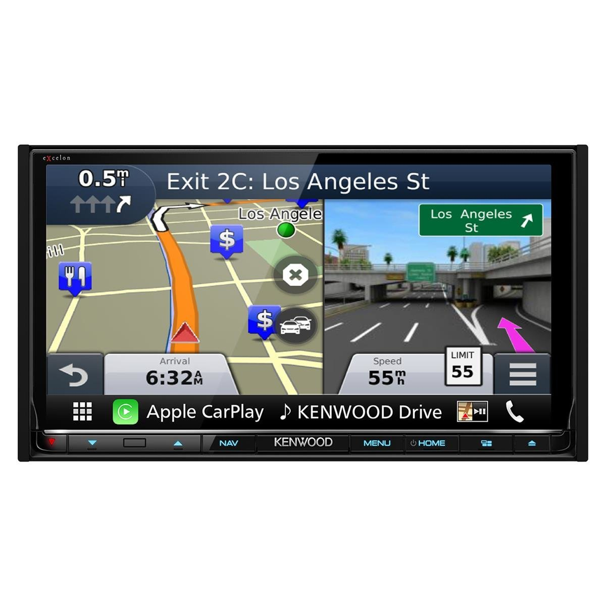 View larger image of dnx893s 6 95 excelon double din av navigation system with bluetooth