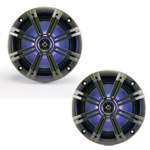 """View Larger Image of 43KM654LCW 6-1/2"""" LED Marine Speakers"""