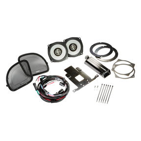 "46HDR154 6-1/2"" Coaxial Speakers and 4-Channel Amplifier for Select 2015 and Up Harley-Davidson Motorcycles"