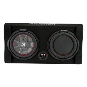 """47TRTP102 10"""" CompRT Shallow Down-Firing Subwoofer 2-Ohm Enclosure with Passive Radiator"""