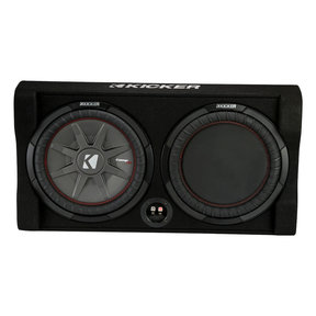 """47TRTP82 8"""" CompRT Shallow Down-Firing Subwoofer 2-Ohm Enclosure with Passive Radiator"""