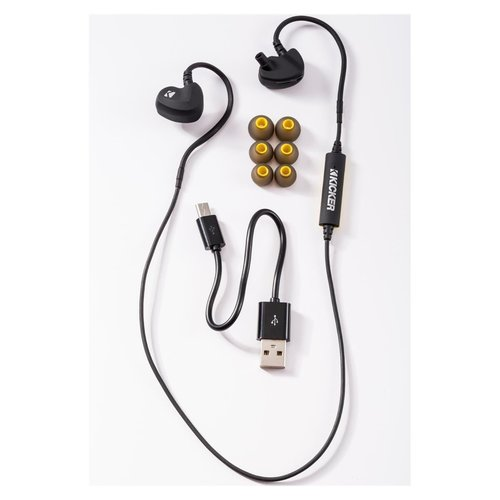 View Larger Image of EB300 Bluetooth Sports Earbuds (Black/Yellow)