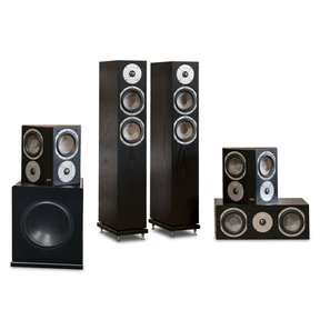 "Cambridge 5.1 Speaker System with 10"" Subwoofer (Black Oak)"