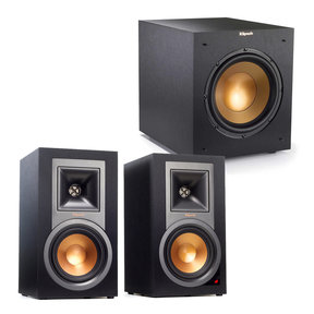 """2.1 R-15PM Reference Powered Bluetooth Monitor Speaker Package with R-10SWi 10"""" Wireless Subwoofer (Black)"""