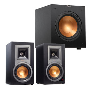 "2.1 R-15PM Reference Powered Bluetooth Monitor Speaker Package with R-12SWi 12"" Wireless Subwoofer (Black)"