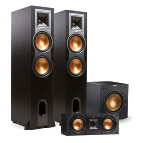 "2.1 R-28F Reference Floorstanding Speaker Package with R-25C Center Speaker and R-12SWi 12"" Wireless Subwoofer (Black)"