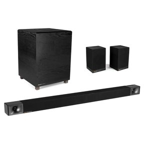 BAR 48 3.1 Sound Bar with Wireless Subwoofer and Surround 3 Wireless Surround Speakers - Pair (Black)