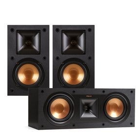 R-14M Reference Monitor Speaker with R-25C Reference Center Speaker (Black)