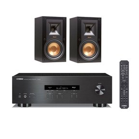 R-15M Reference Monitor Speakers with Yamaha R-S202 Bluetooth Stereo Receiver