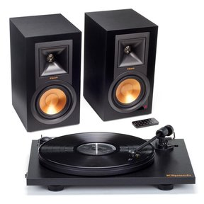R-15PM Powered Monitor Speakers and Pro-Ject Primary Turntable Package (Black)