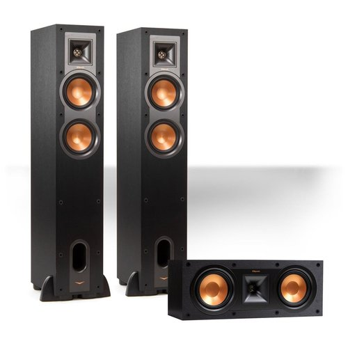 View Larger Image of R-24F Reference Floorstanding Speaker Pair with R-25C Center Speaker (Black)