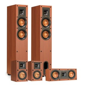 R-24F Reference Floorstanding Speakers with R-14M Reference Monitor Speakers and R-25C Center Speaker (Cherry)