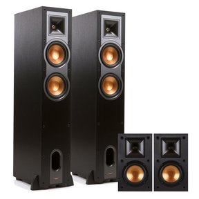 R-26F 4.0 Reference Floorstanding Speaker Package with R-14M Reference Monitor Speakers (Black)