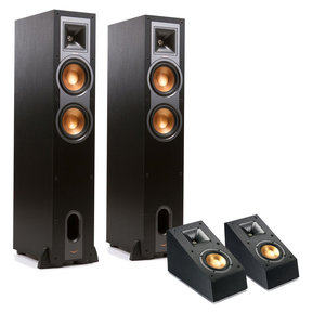 R-26F Reference Floorstanding Speakers with R-14SA Dolby Atmos Speakers - Pair (Black)