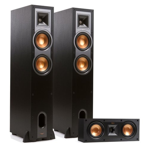 View Larger Image of R-26F Reference Floorstanding Speakers with R-25C Center Speaker (Black)