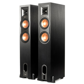 R-26PF Powered Floorstanding Speakers - Pair (Black)