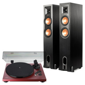 R-26PF Powered Floorstanding Speakers with Teac TN-400S Turntable