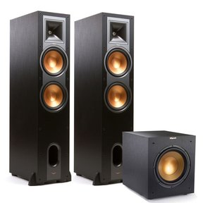 "R-28F Reference Floorstanding Speakers with R-10SWi 10"" 300W Wireless Subwoofer"
