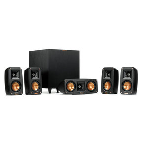 Reference 5 1 Theater System with Satellite Speakers, Center Speaker, and  Subwoofer (Black)