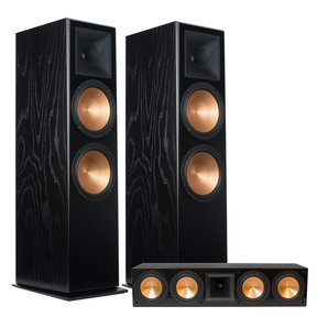 RF-7 III Floorstanding Speaker Pair with RC-64 III Center Channel Speaker (Black Ash)
