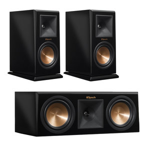 RP-160M Reference Premiere Monitor Speakers with RP-250C Center Channel Speaker (Piano Black)
