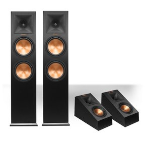 RP-280F Reference Premiere Floorstanding Speaker with RP-140SA Add-On Dolby Atmos Enabled Elevation Speakers (Black)