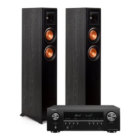 RP-4000F Floor Standing Speakers (Ebony) with Denon AVR-S540BT 5.2 Channel AV Receiver