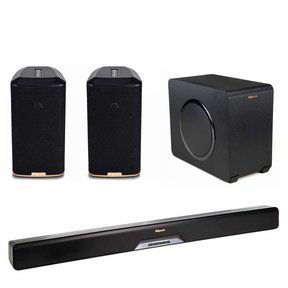 RSB-11 Reference Sound Bar with Wireless Subwoofer with RW-1 Wireless Speakers - Pair (Black)