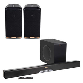 RSB-14 Reference Sound Bar with Wireless Subwoofer with RW-1 Wireless Speakers - Pair (Black)