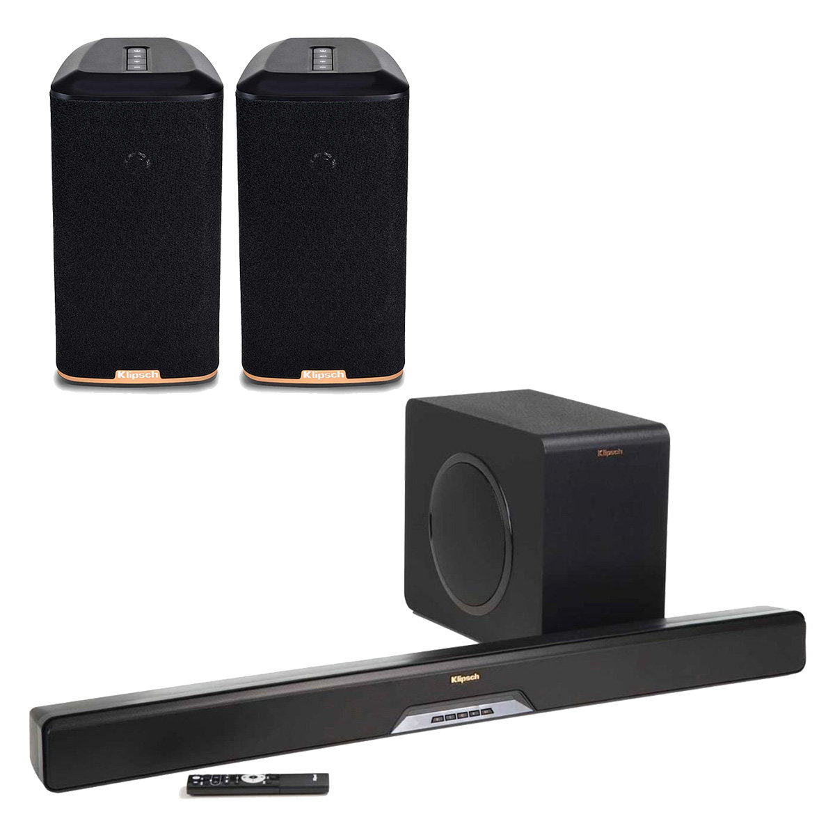 Subwoofer Wireless Speakers Wire Center 11796d12469976383wayswitchdiagramschematic3way6lightsjpg Klipsch Rsb 14 Reference Sound Bar With Rw 1 Rh Worldwidestereo Com