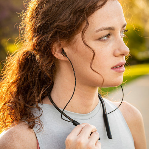 View Larger Image of T5 Neckband Bluetooth Earbuds with Three-Button Remote and Microphone