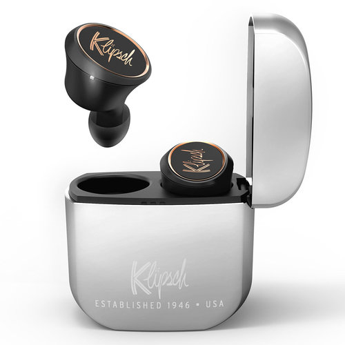 View Larger Image of T5 True Wireless Earbuds with Built-In Remote and Microphone (Black)