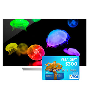 """65EF9500 65"""" Class 4K Ultra HD 3D OLED Smart TV with FREE $300 Visa Gift Card"""