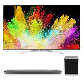 "65SJ9500 65"" 4K SUHD HDR Smart LED TV with SJ9 5.1.2 Channel High Resolution Audio Soundbar with Dolby Atmos and Wireless Subwoofer"