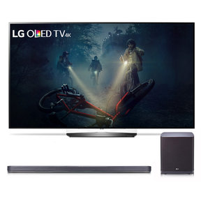 "OLED55B7A 55"" OLED 4K UHD HDR Smart TV and SJ9 5.1.2 Channel High Resolution Audio Soundbar with Dolby Atmos and Wireless Subwoofer"