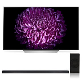 """OLED55C7P 55"""" OLED 4K UHD HDR Smart TV with SJ8 4.1 Channel High Resolution Audio Soundbar with Wireless Subwoofer"""