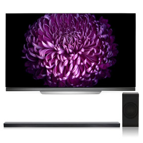 """OLED55E7P 55"""" OLED 4K UHD HDR Smart TV with SJ8 4.1 Channel High Resolution Audio Soundbar with Wireless Subwoofer"""