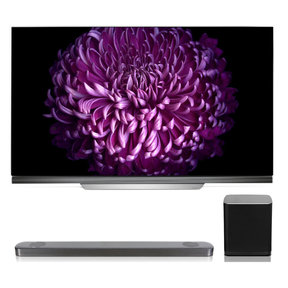 """OLED55E7P 55"""" OLED 4K UHD HDR Smart TV with SJ9 5.1.2 Channel High Resolution Audio Soundbar with Dolby Atmos and Wireless Subwoofer"""