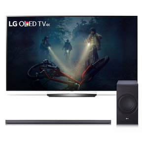 """OLED65B7A 65"""" OLED 4K UHD HDR Smart TV and SJ8 4.1 Channel High Resolution Audio Soundbar with Wireless Subwoofer"""