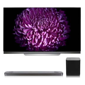 """OLED65E7P 65"""" OLED 4K UHD HDR Smart TV with SJ9 5.1.2 Channel High Resolution Audio Soundbar with Dolby Atmos and Wireless Subwoofer"""