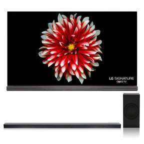 "OLED65G7P 65"" Signature OLED 4K UHD HDR Smart TV with Dolby Vision and Dolby Atmos with SJ8 4.1 Channel High Resolution Audio Soundbar with Wireless Subwoofer"