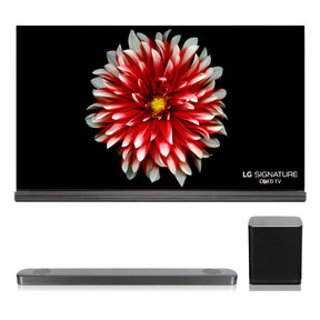 "OLED65G7P 65"" Signature OLED 4K UHD HDR Smart TVwith SJ9 5.1.2 Channel High Resolution Audio Soundbar with Dolby Atmos and Wireless Subwoofer"
