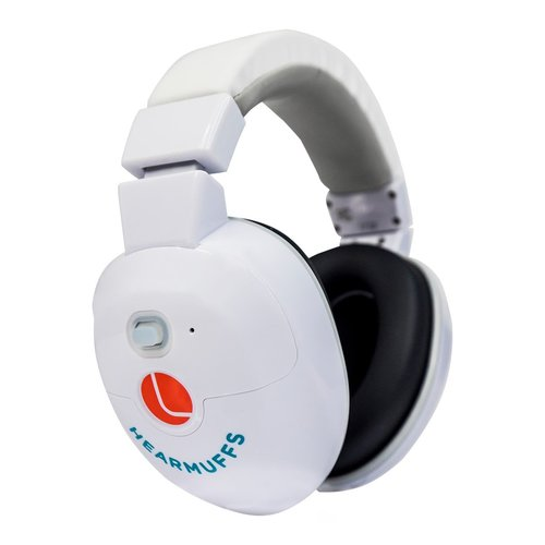 View Larger Image of HearMuff Active Infant Ear Protection with Soothing Sounds (White)