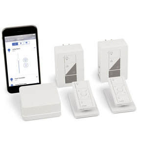Caseta Wireless Smart Bridge Dimmer Kit with Pico Remotes for Plug-In Table and Floor Lamps