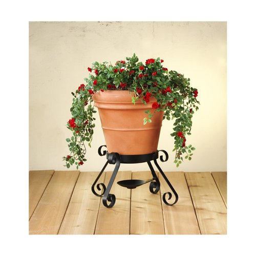 """View Larger Image of 14"""" Terracotta Mini Planter Speakers with Painted Stands - Pair (Terracotta)"""