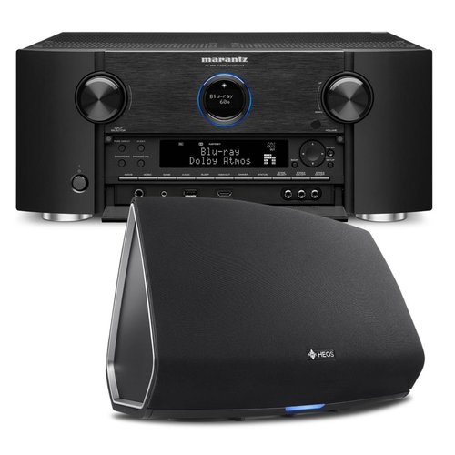 View Larger Image of AV7703 11.2 Channel Full 4K Ultra HD A/V Pre-Amplifier with Bluetooth and Wi-Fi with Denon HEOS 5 Four-Driver Wireless Speaker System - Series 2