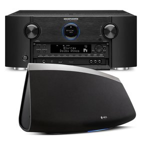 AV7703 11.2 Channel Full 4K Ultra HD A/V Pre-Amplifier with Bluetooth and Wi-Fi with Denon HEOS 7 Five-Driver Wireless Speaker System - Series 2