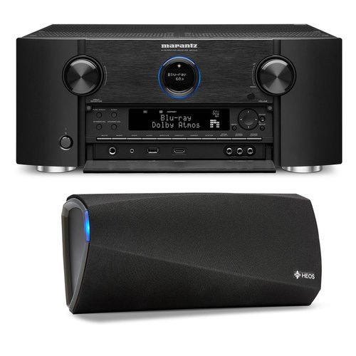 View Larger Image of SR7011 9.2 Channel Full 4K Ultra HD AV Surround Receiver with Bluetooth and Wi-Fi with Denon HEOS 3 Dual-Driver Wireless Speaker System - Series 2